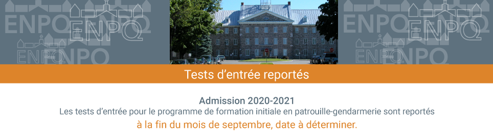 Report des tests d'entrée 2020-2021